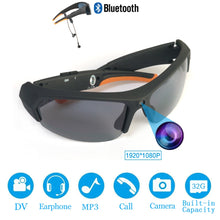 Load image into Gallery viewer, HD 1080P 32GB Polarized Multifunctional Sunglasses. Camera. Bluetooth. MP3 Player. DVR.