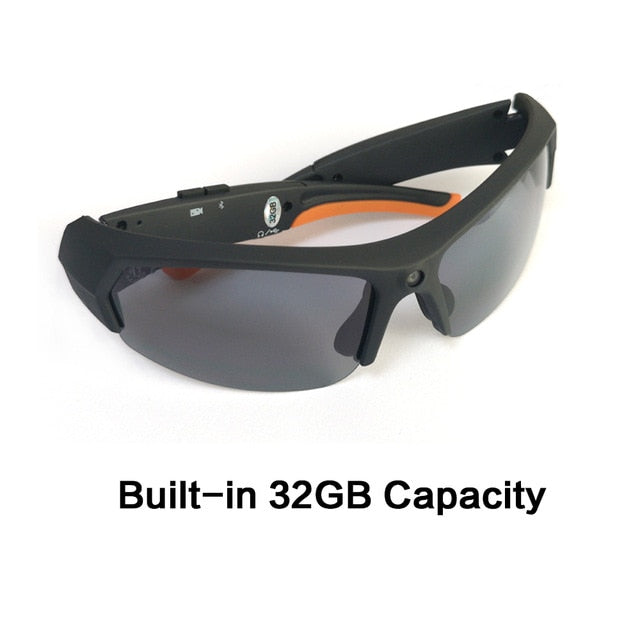 HD 1080P 32GB Polarized Multifunctional Sunglasses. Camera. Bluetooth. MP3 Player. DVR.