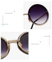 Load image into Gallery viewer, Women's Fashion Round Sunglasses (No Chain)  - *Only Ships Within USA*