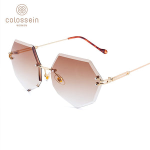 US Warehouse: Women's Round Gradient Fashion Sunglasses. Metal Frame. UV400.