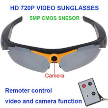 Load image into Gallery viewer, HD 720P 5MP Smart Camera Video Sunglasses. Remote Control. 170 Degree View Angle.
