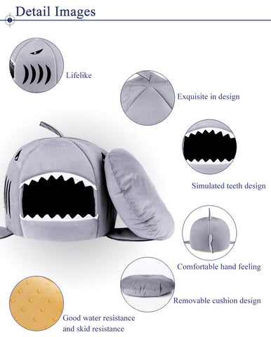 Shark Shape Cat Bed