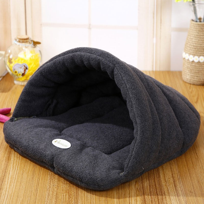 Winter Warm Slippers Style Cat Bed