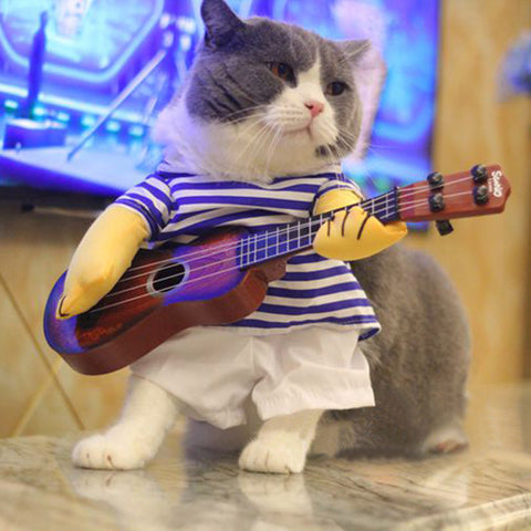 T-shirt Guitar Cat Costume