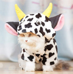 Cow Costume for Cats