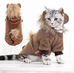 Pet Cat Coat with Lion Mane