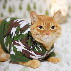Camouflage Cat Sweater 100% Cotton