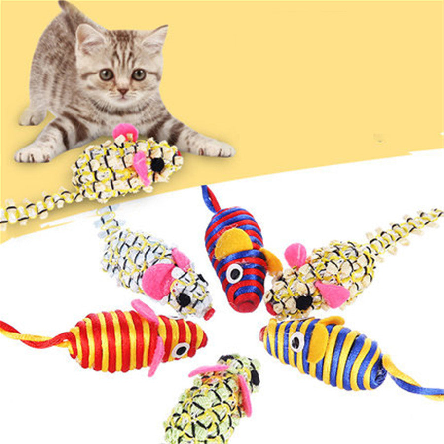 Cute Plush Mouse Cats Toys Interactive Animal Pets Supplies