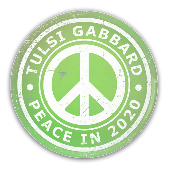 Tulsi Gabbard Peace in 2020 Pin-Back Buttons