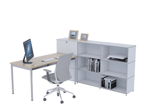Office Workstation, Steel Made, Convertible, Reusable, 2250H117WR