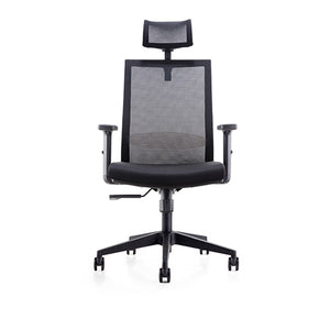 Mesh Cover Office Chair with Adjustable Headrest