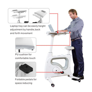 Demo Sample of Flexispot Exercise Bike with Desk - with Three Year Warranty