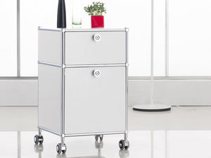 Mobile Wheel Cabinet with 2 Drawers