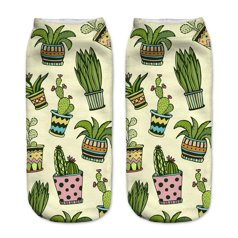 Cactus Creative Printed Socks