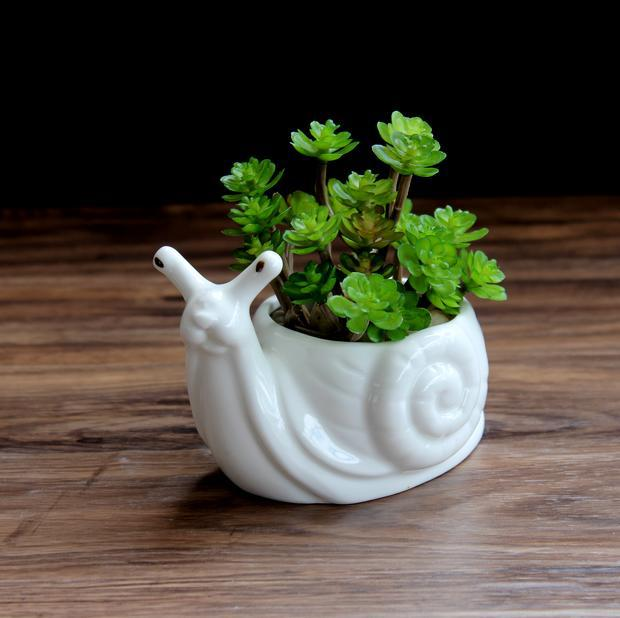 Ceramic Snail Planter