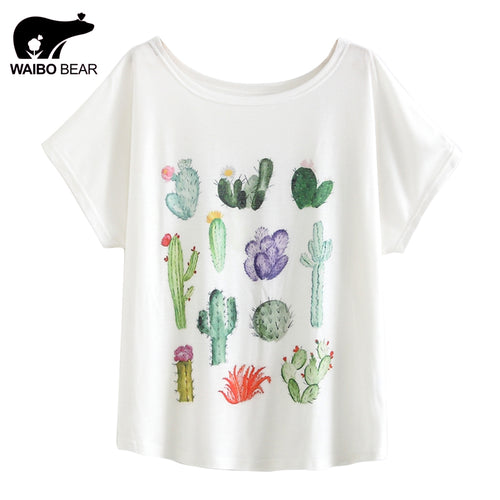 Cactus and Bird Short Sleeve T-Shirt