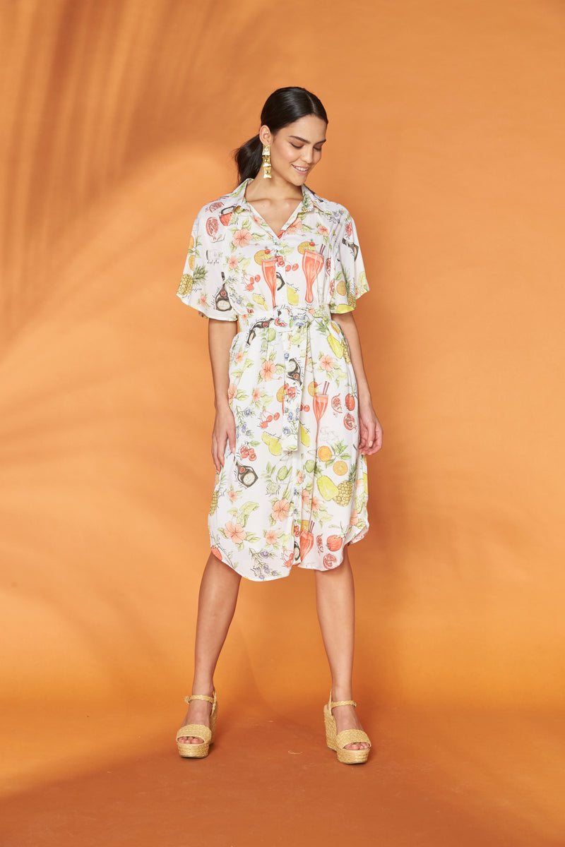 Happy Hour Midi Shirt Dress