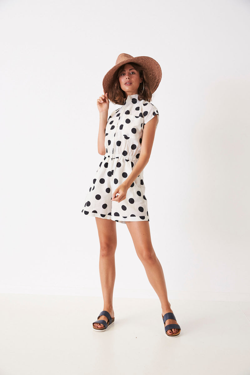 Painted Spots Utility Playsuit