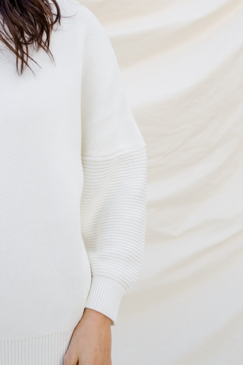 White Oversized Jumper