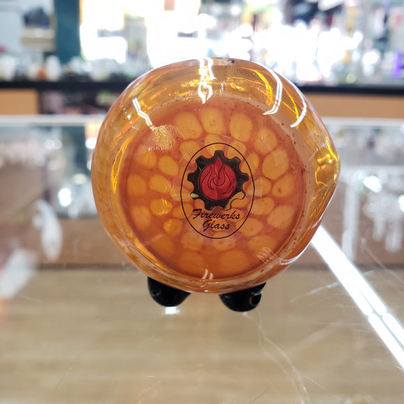 Orange honey comb pipe