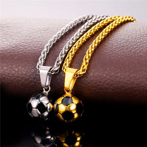 Gold/Silver Soccer ball Necklace/Pendant