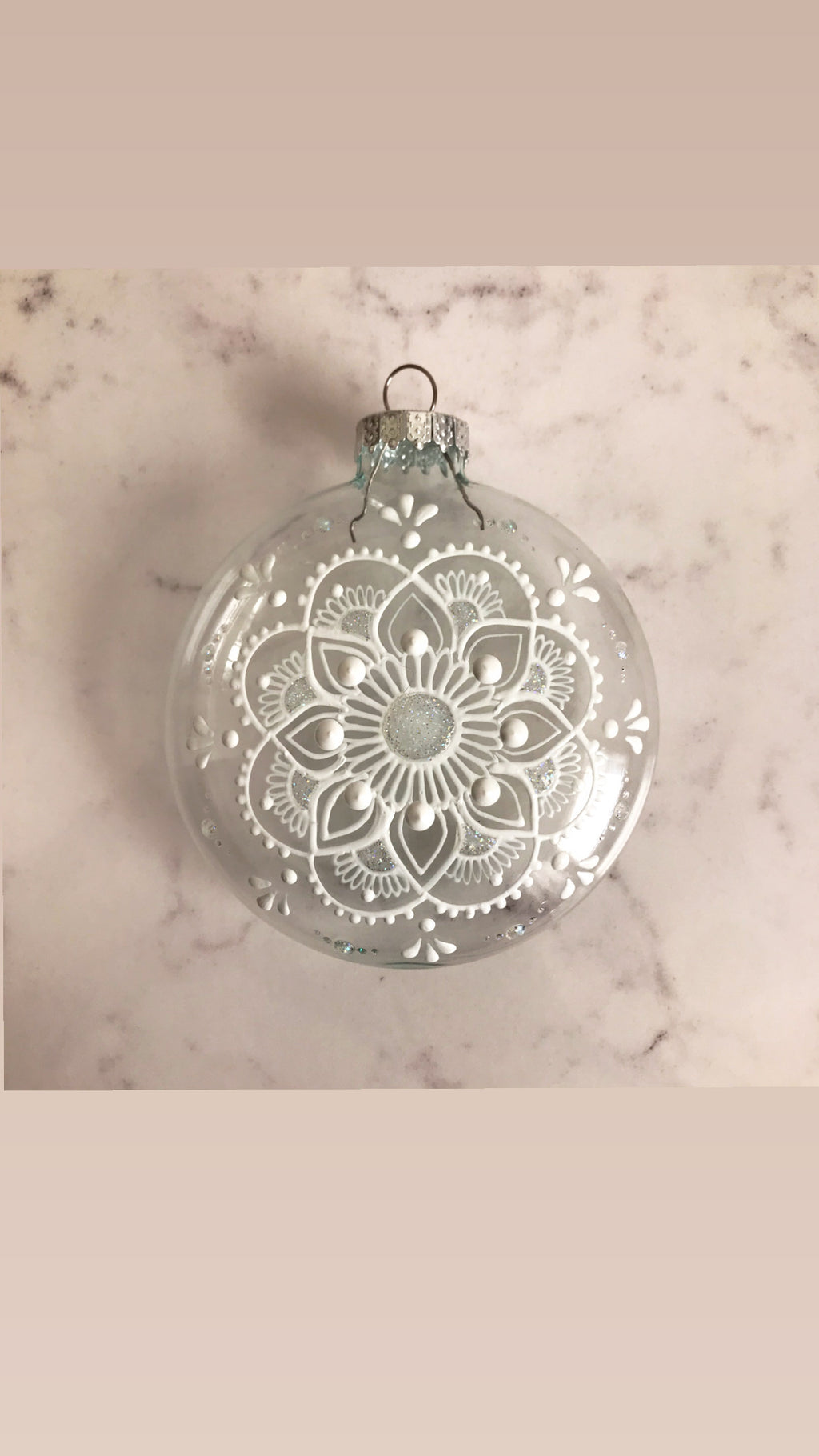"Glass 3"" Mandala Ornament"