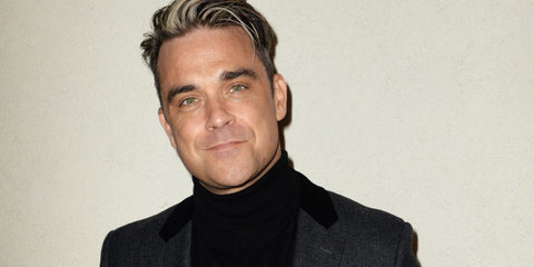 Robbie Williams Posing for Picture