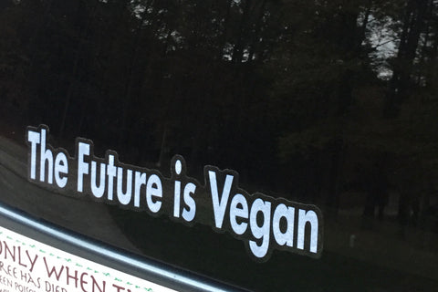 The Future Is Vegan Car Decal