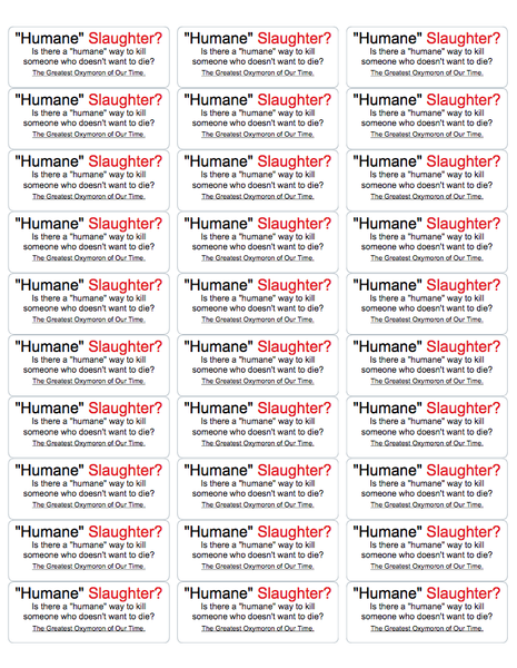 Humane Slaughter? Activism Stickers