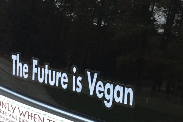 'The Future Is Vegan' Car Decal