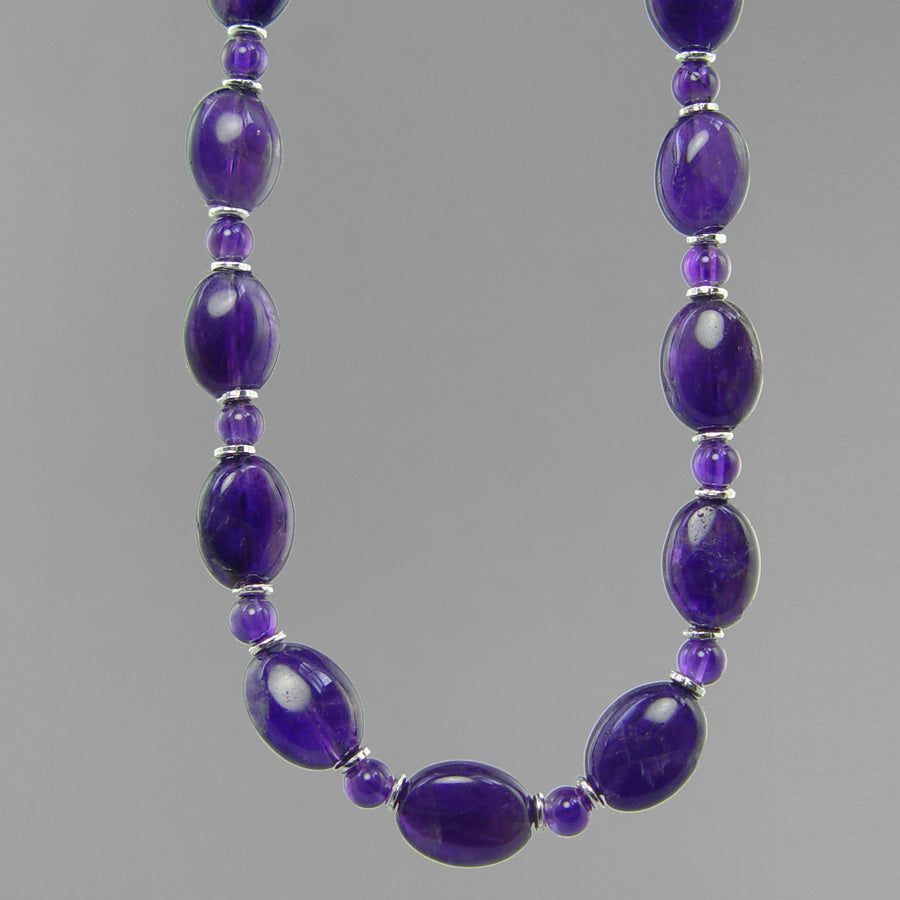 Amethyst Oval Necklace