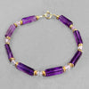 Amethyst Rectangle Bracelet