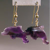 Amethyst Dolphin Earrings