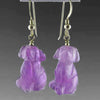 Amethyst Dog Earrings