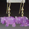 Amethyst Elephant Earrings