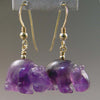Amethyst Hippo Earrings