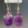 Amethyst Turtle Earrings