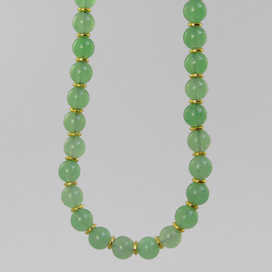 Aventurine Classic Round Necklace