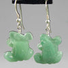 Aventurine Frog Earrings