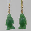 Aventurine Penguin Earrings