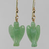 Aventurine Angel Earrings