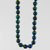 Azurite Malachite Classic Round Necklace