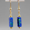 Azurite Malachite Rectangle Earrings
