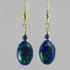 Azurite Malachite Oval Earrings