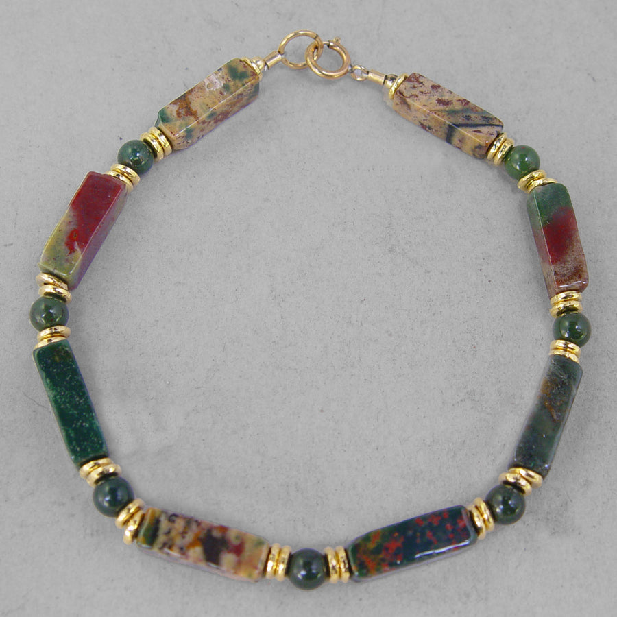 Bloodstone Rectangle Bracelet