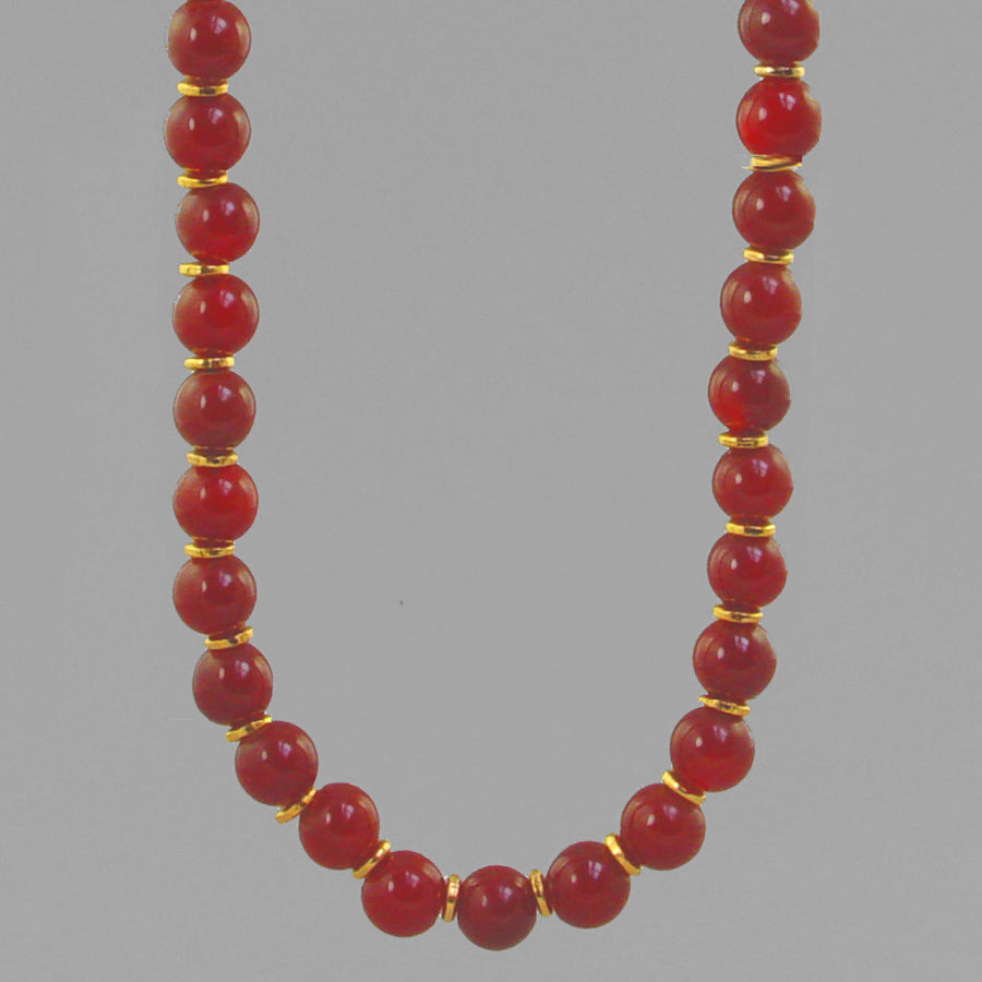 Carnelian Classic Round Necklace