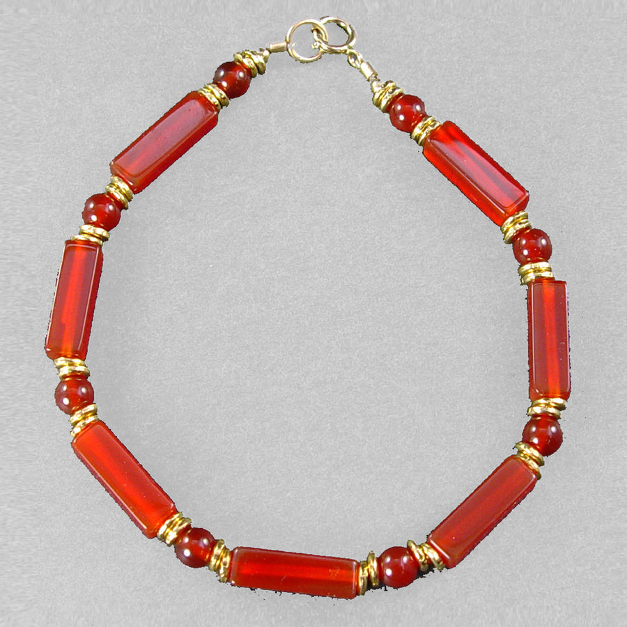 Carnelian Rectangle Bracelet