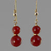 Carnelian Classic Drop Earrings