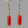 Carnelian Rectangle Earrings