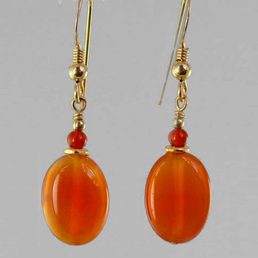 Carnelian Oval Earrings